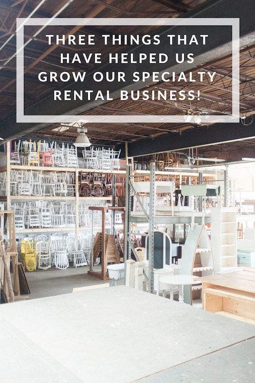 Three things that have helped us grow our specialty & vintage rental business!