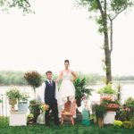Colorful and creative wedding styled shoot at Upper Shirley Vineyards in Virginia with eclectic and vintage furniture rentals by Paisley and Jade