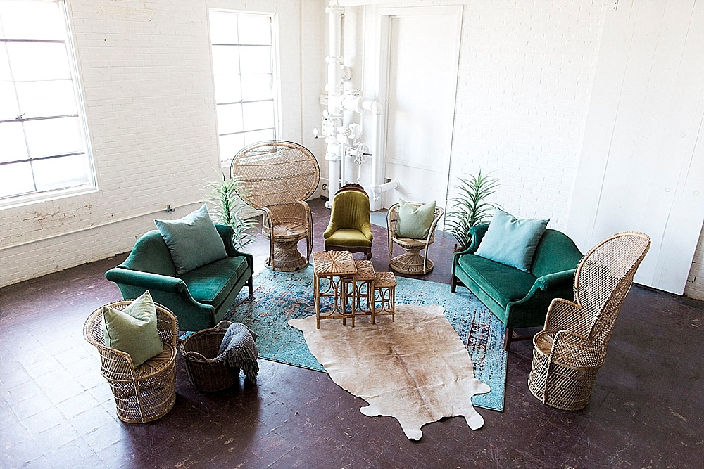 The Grenada Lounge Package available for rent by Paisley & Jade. Image by Stephanie Yonce Photography