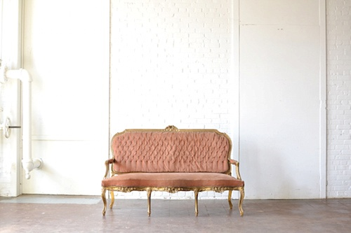 The Eleanor Settee available for rent by Paisley & Jade