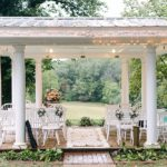 Pretty pink and white outdoor wedding at Prospect Hill Plantation with specialty rentals by Paisley & Jade