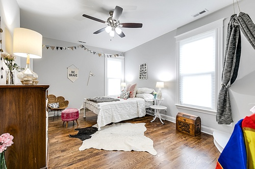Cobblestone Development Group real estate rehab for HGTV with portion of home-staging items provided by and available for rent by Paisley & Jade