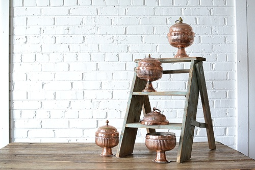 Copper Urns available for rent by Paisley & Jade