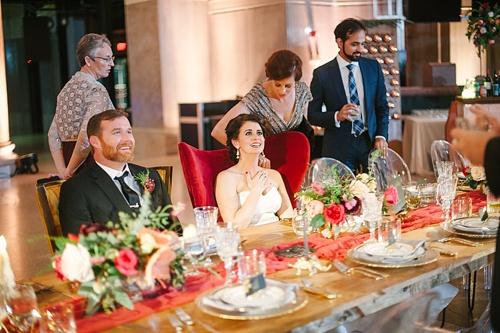 Whimsical and eclectic wedding at the Science Museum of Virginia captured by Jessica Maida Photography with specialty rentals by Paisley & Jade