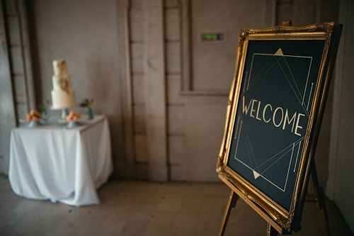Moody wedding inspiration at The National in RVA with specialty rentals by Paisley & Jade