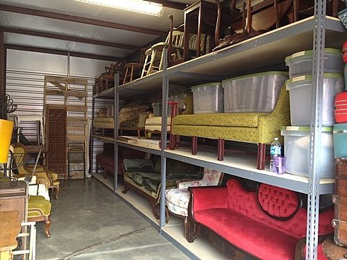 Paisley & Jade had to think outside of the box to store and organize their vintage rentals prior to moving to Highpoint & Moore.