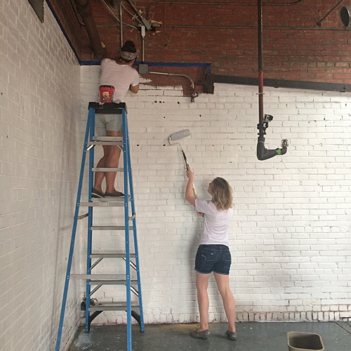 Tart Event Co. came to Highpoint & Moore to help Paisley & Jade paint their new 10,000 square feet of space for their vintage and speciality rental inventory!