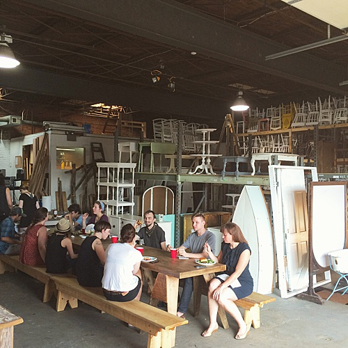 When the Paisley & Jade team isn't busy making custom orders, delivering to clients, or participating in styled shoots, you can find them in the warehouse having a team picnic!