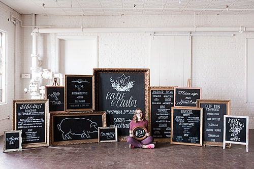 Paisley & Jade offers hand lettering to personalize your event!