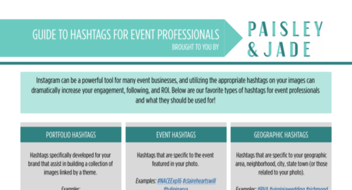 Paisley & Jade coaches other event professionals and shows them how to use hashtags for event professionals!