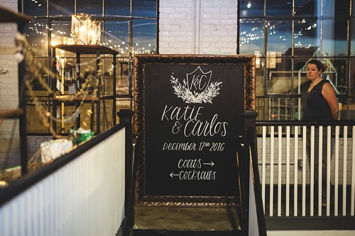 Beautiful custom hand-lettering and calligraphy of guest seating charts and menus for events and weddings with rental items and services provided by Paisley & Jade